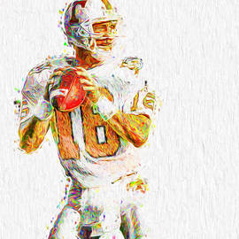 Peyton Manning Nfl Football Painting Tv by David Haskett II