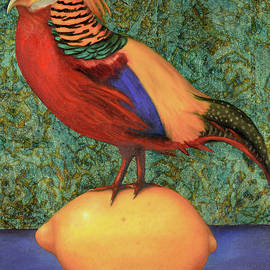 Leah Saulnier The Painting Maniac - Pheasant On A Lemon