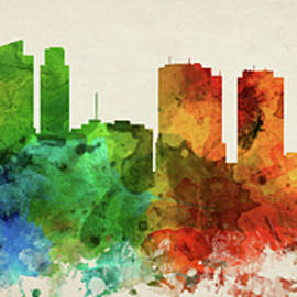 Philadelphia Skyline Panorama USPAPH-PA03 - Aged Pixel