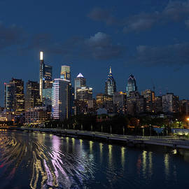 Philadelphia Skyscape At Night by Louis Dallara