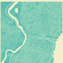 PHILADELPHIA STREET MAP 2 - Jazzberry Blue