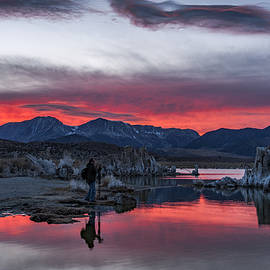 Photographer At Mono Lake by Cat Connor