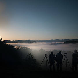Photographers Lined Up And Ready For Sunrise by Dan Friend