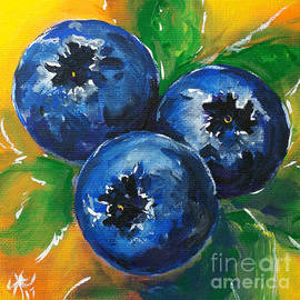 Jackie Carpenter - 1 2 3 Blueberries Sweet Yummy Blue Green Yellow Orange Bright Bold