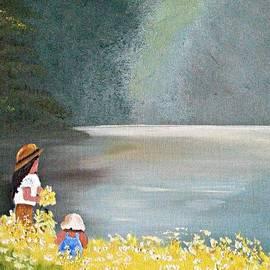 Jennifer Campbell Brewer - Picking daisys