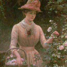 Picking Roses - Charles Sillem Lidderdale
