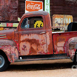 Pickup At Hackberry Arizona by Bob Christopher