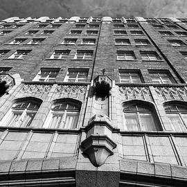 Matt Harang - Pickwick Hotel - San Francisco - Looking Up - Black and White