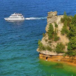 Norris Seward - Pictured Rocks Cruises Miners Castle -2325