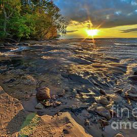 Norris Seward - Pictured Rocks Hurricane River Sunset -2415