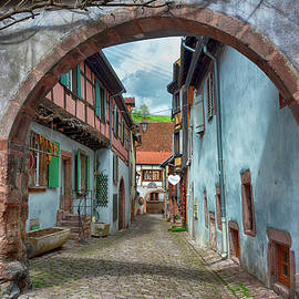Joachim G Pinkawa - picturesque Alsation Riquewihr