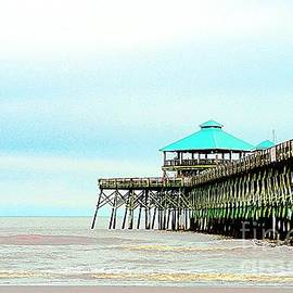 Pier At Folly Beach by Kathleen Struckle