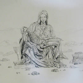 Pieta by Art Nomad Sandra  Hansen