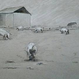 GW Smith - Pigs And Barn