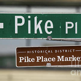 Jerry Fornarotto - Pike Place Street Sign