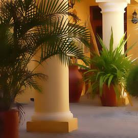 Pillars And Palms by Vicki Hone Smith