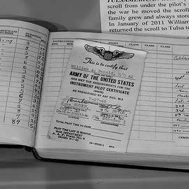 John Straton - Pilot Certificate Logbook B-24 Tulsamerican