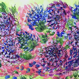 Holly Carmichael - Pink and Blue Flower Flurry
