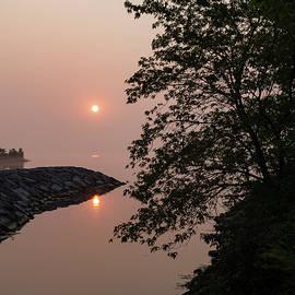 Georgia Mizuleva - Pink and Green Summer - Soft Misty Sunrise on the Lake