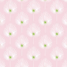 Linda Woods - Pink and White Palm Leaves- Art by Linda Woods