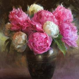 Pink and White Peonies - Anna Rose Bain
