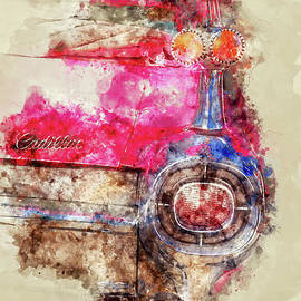 Delphimages Photo Creations - Pink Cadillac - Back