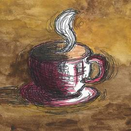 Pink Coffee Cup by Susan Harris