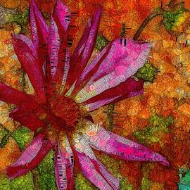 Pink Dahlia Stained Glass   by Mo Barton