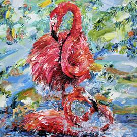 Pink Flamingos  by Yelena Rubin