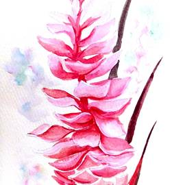 Pink Ginger Lily   2 by Karin  Dawn Kelshall- Best