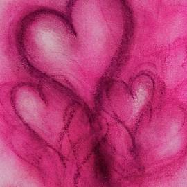 Pink Hearts by Marian Palucci-Lonzetta