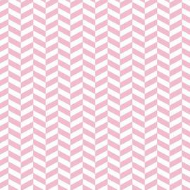 Ross - Pink Herringbone Design