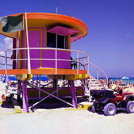 Pink Lifeguard Stand by William Wetmore