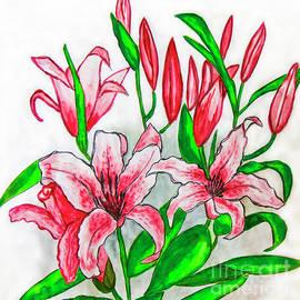 Irina Afonskaya - Pink lilies, painting