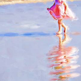 Pink On The Beach by Alice Gipson
