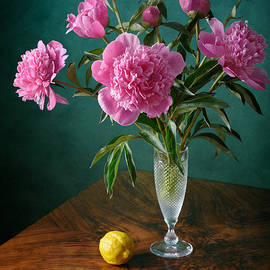 Nikolay Panov - Pink Peonies and Lemon