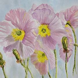 Linda Brody - Pink Poppies 1 watercolor
