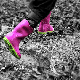 Pink Rain Boots by Kristie Bonnewell