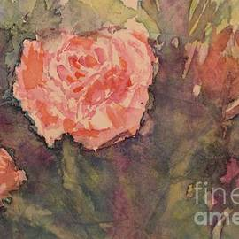 Pink roses in the garden by Olga Malamud-Pavlovich