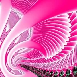Pink Swan Wings Fractal by Rose Santuci-Sofranko
