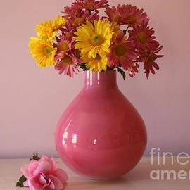 Dora Sofia Caputo Photographic Art and Design - Pink Vase and Autumn Blossoms - Still Life