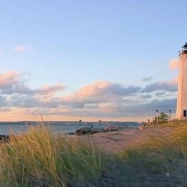 Pinkish Lighthouse by Karol Livote