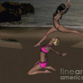 Pinups Dancing by Stanley Morganstein