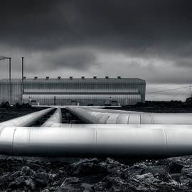 Pipes Reykjanes Power Station Iceland