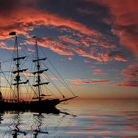 Shane Bechler - Pirate Ship at Sunset
