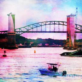 Anita Pollak - Piscataqua River Bridge from Harborwalk Park, Portsmouth New Hampshire