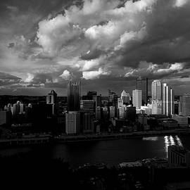 Pittsburgh Pennsylvania Skyline Black And White  by David Haskett II