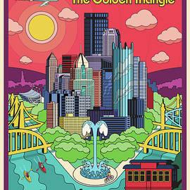 Pittsburgh Pop Art Travel Poster - Jim Zahniser