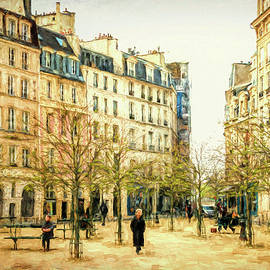 Joan Carroll - Place Dauphine Paris Grunge