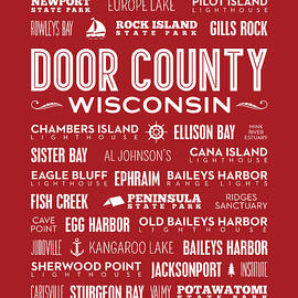 Places Of Door County On Red by Christopher Arndt